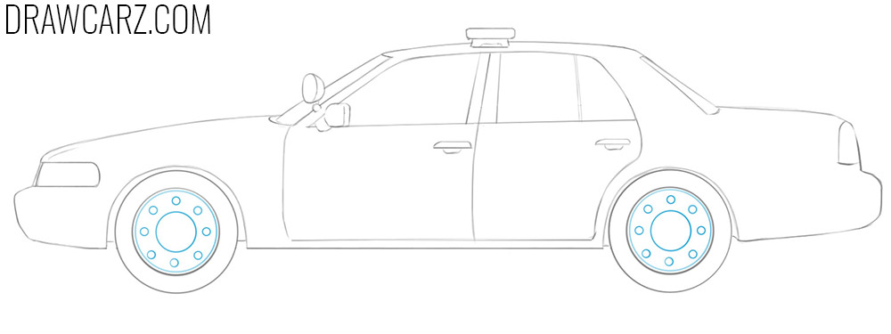 how to draw a Police Car eas y