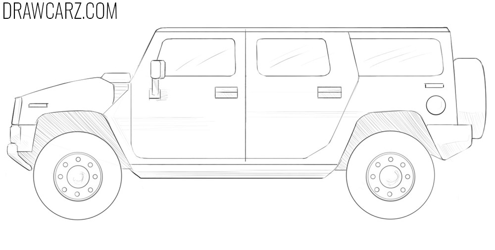 how to draw a big car