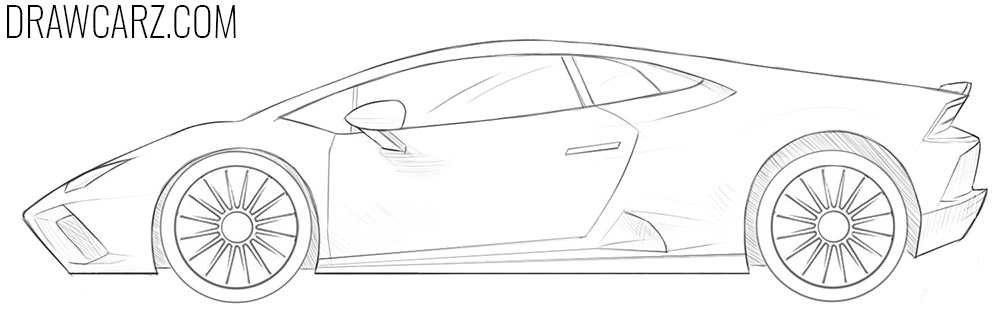 how to draw a lamborghini car