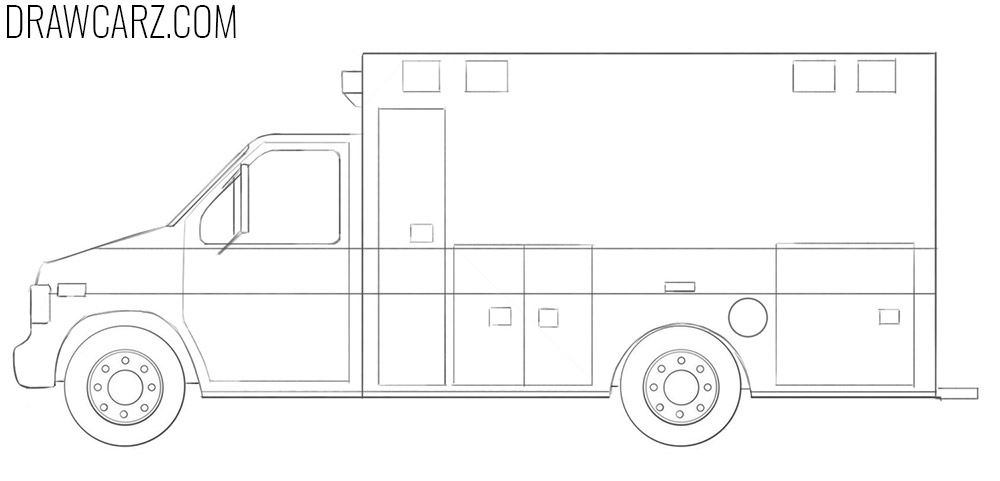 how to draw an Ambulance