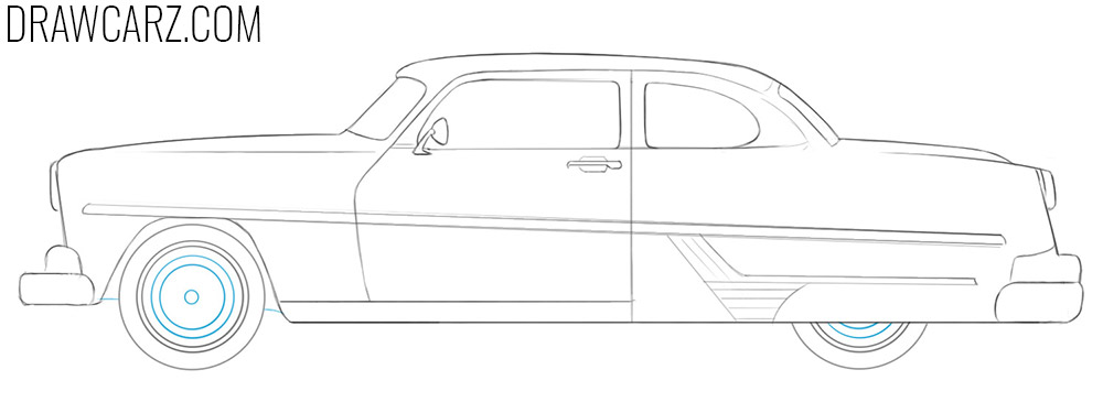how to draw an Antique Car easy