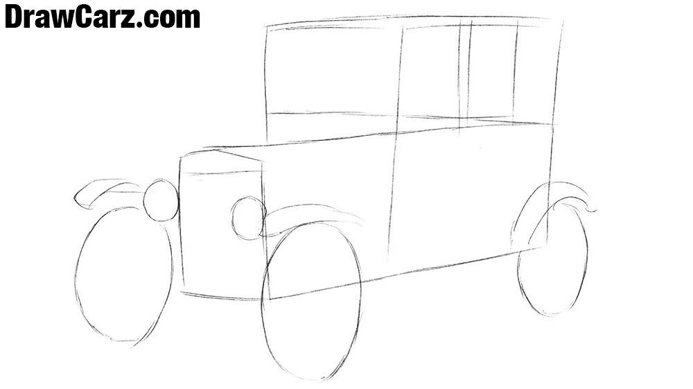 2 How to draw a Ford Model T step by step