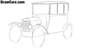 Learn draw a Ford Model T step by step