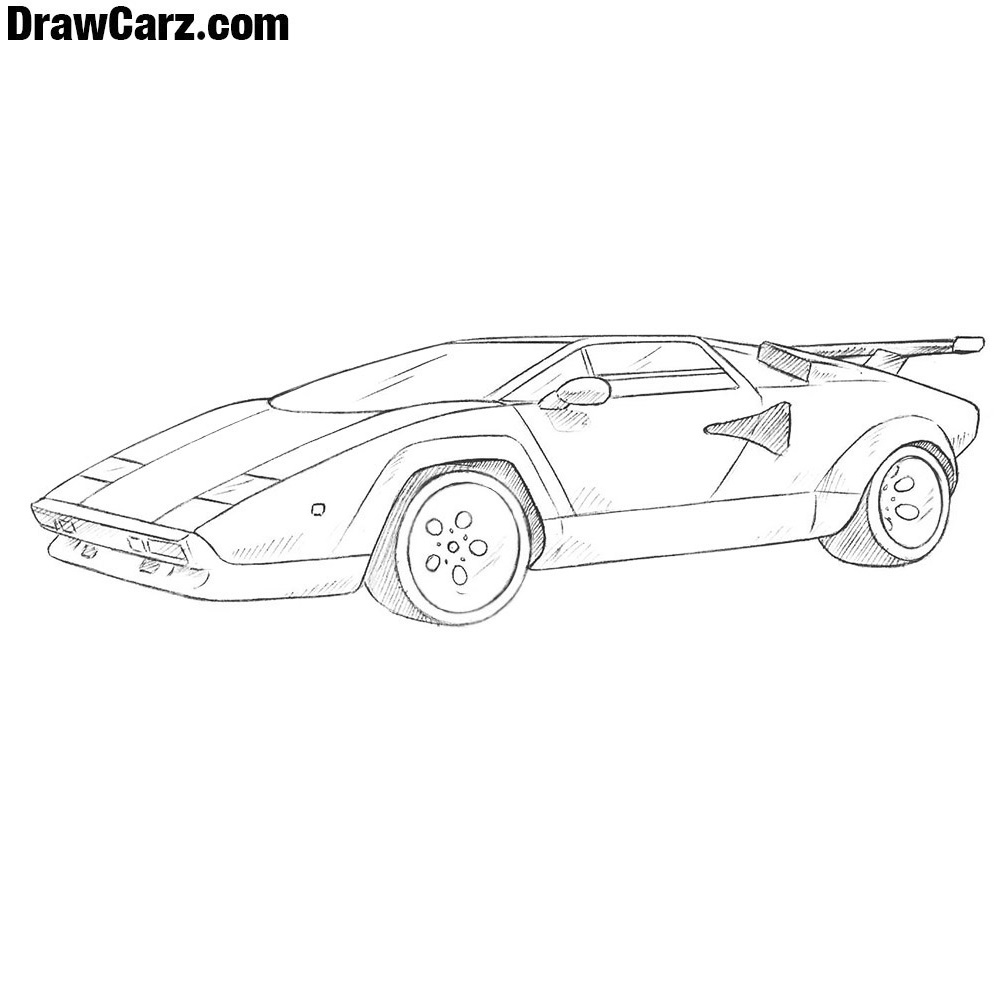 How To Draw A Lamborghini Countach