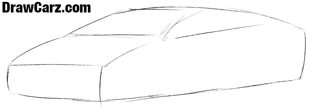 How to draw a Lamborghini Easy