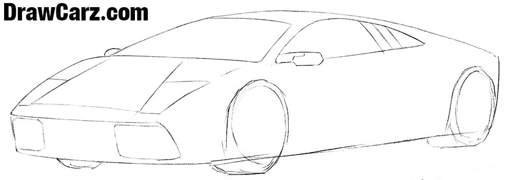 How to draw a Lamborghini step by step Easy