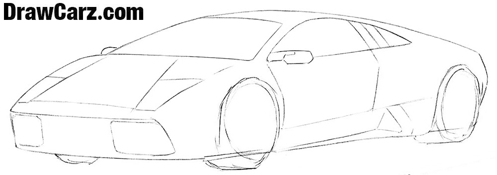 How to draw a Lamborghini Easy step by step