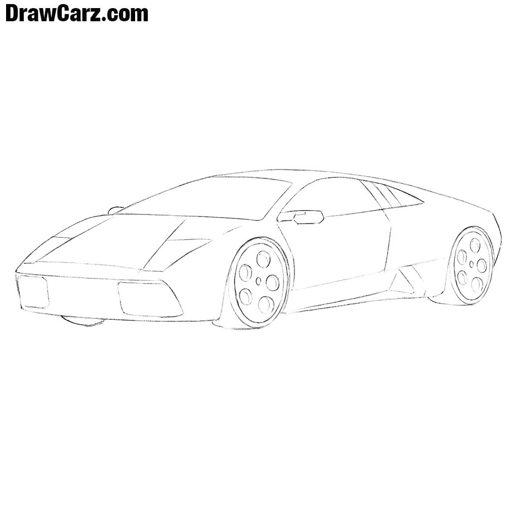 How To Draw A Lamborghini Easy Drawcarz