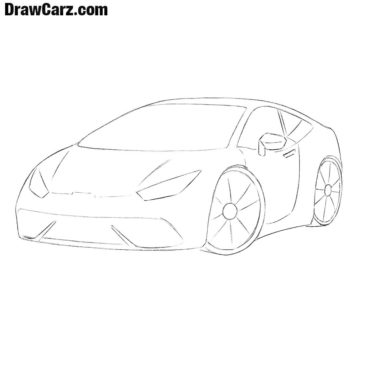 How to Draw a Sports Car for Beginners