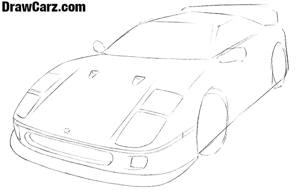 How to draw a ferrari Easy step by step