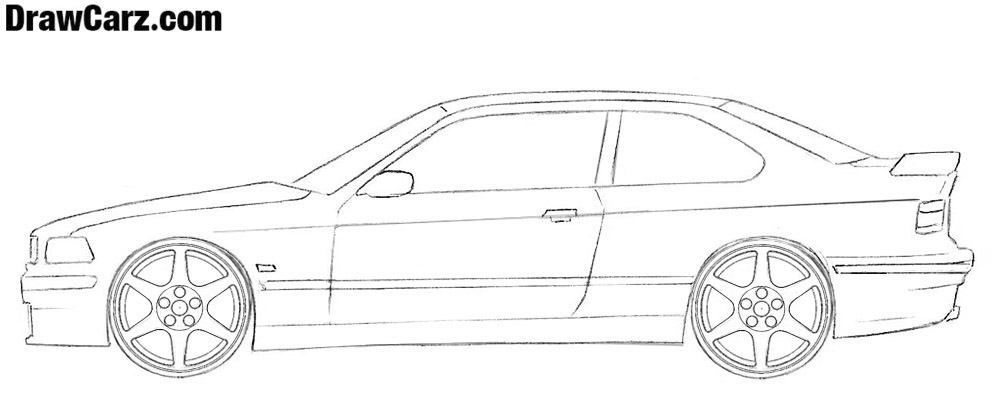 How to draw a coupe easy