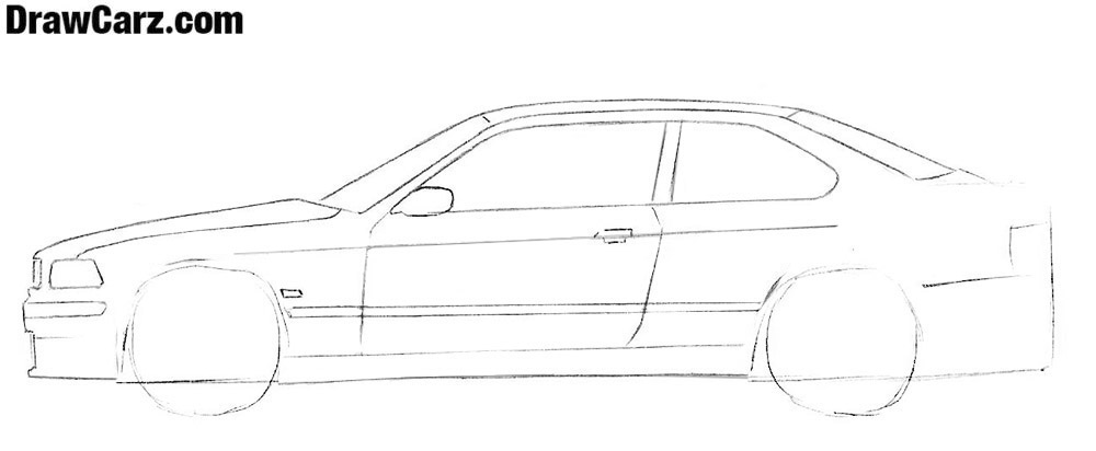 How to draw a coupe car