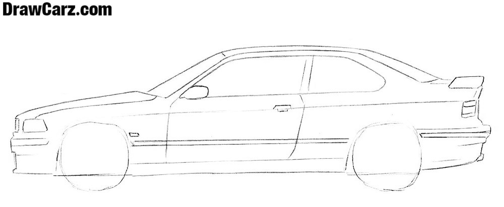 How to sketch a coupe with a pencil