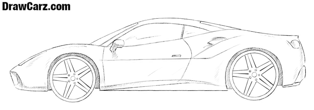 How To Draw A Ferrari Drawcarz