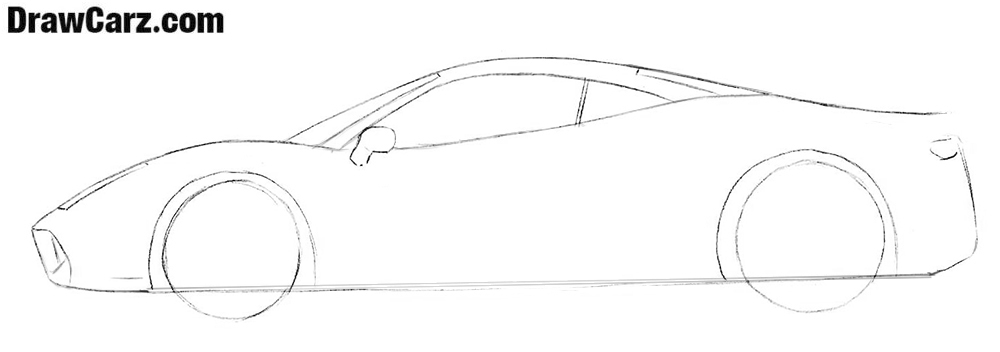 Learn how to draw a Ferrari