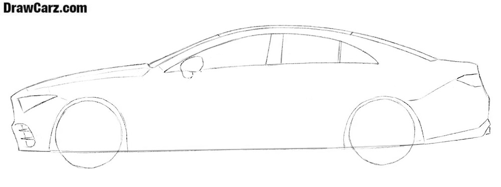 Car drawing tutorial step by step
