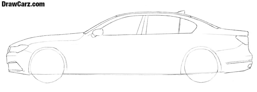 How to draw a BMW step by step