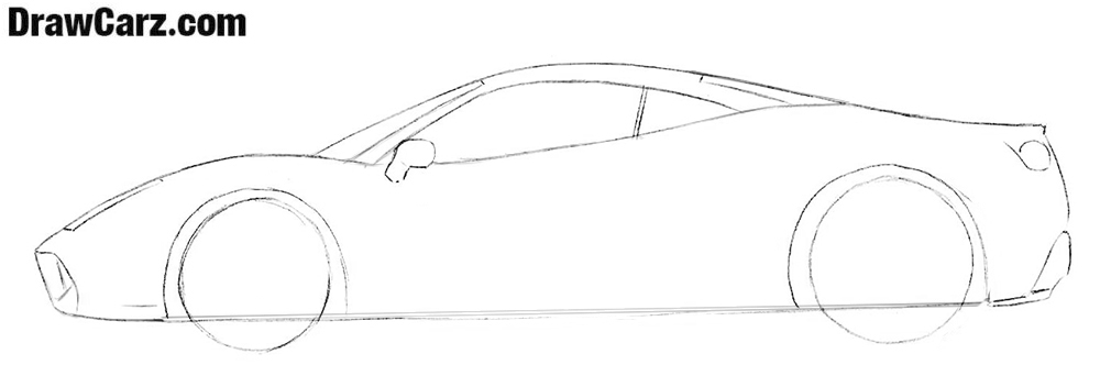 How to draw a Ferrari car