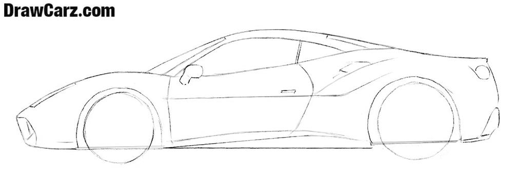 Ferrari drawing lesson