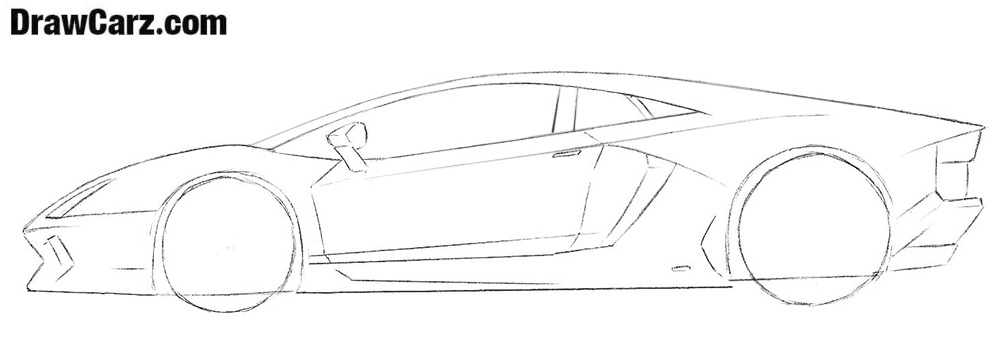 Learn how to draw a Lamborghini step by step