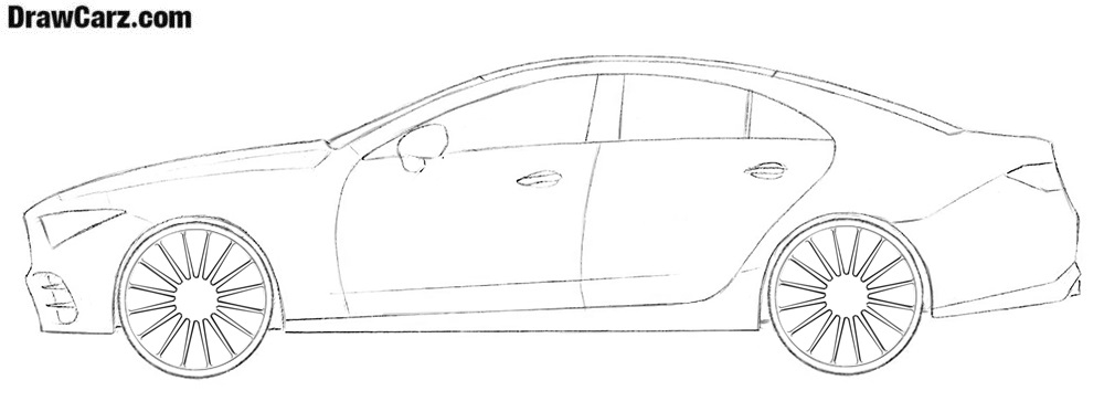 Car drawing side view