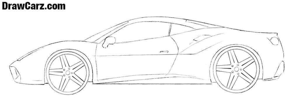 Ferrari drawing tutorial