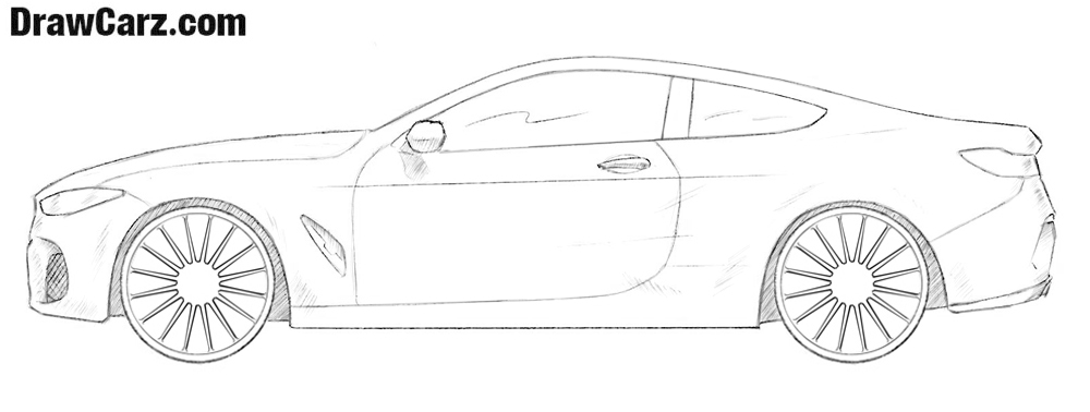 How To Draw A Bmw 8 Series Drawcarz