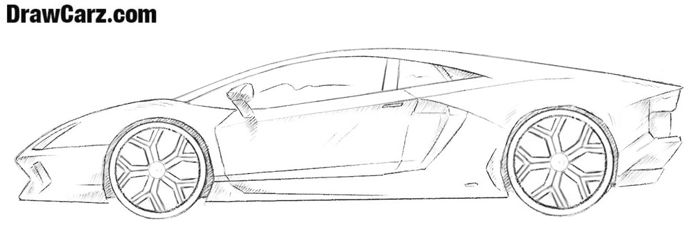 How To Draw A Lamborghini Drawcarz