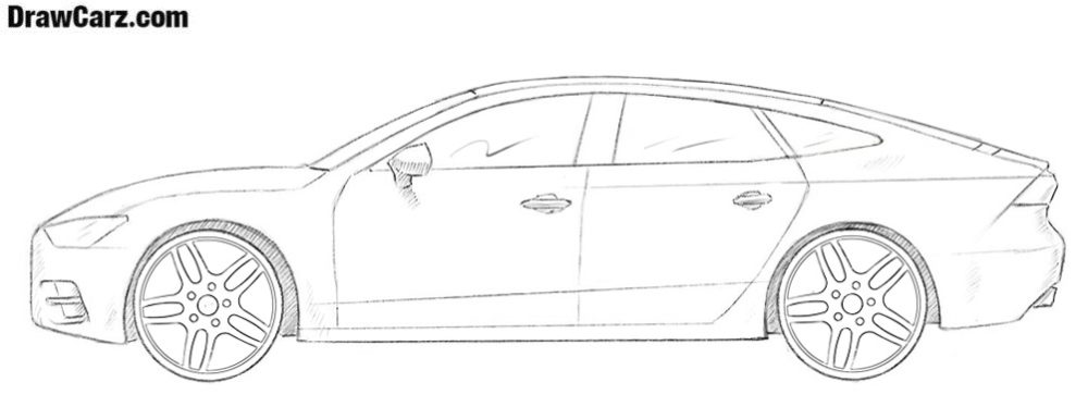 How to draw an Audi A7