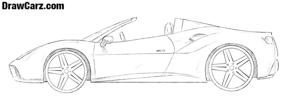 How to draw a Ferrari Spider