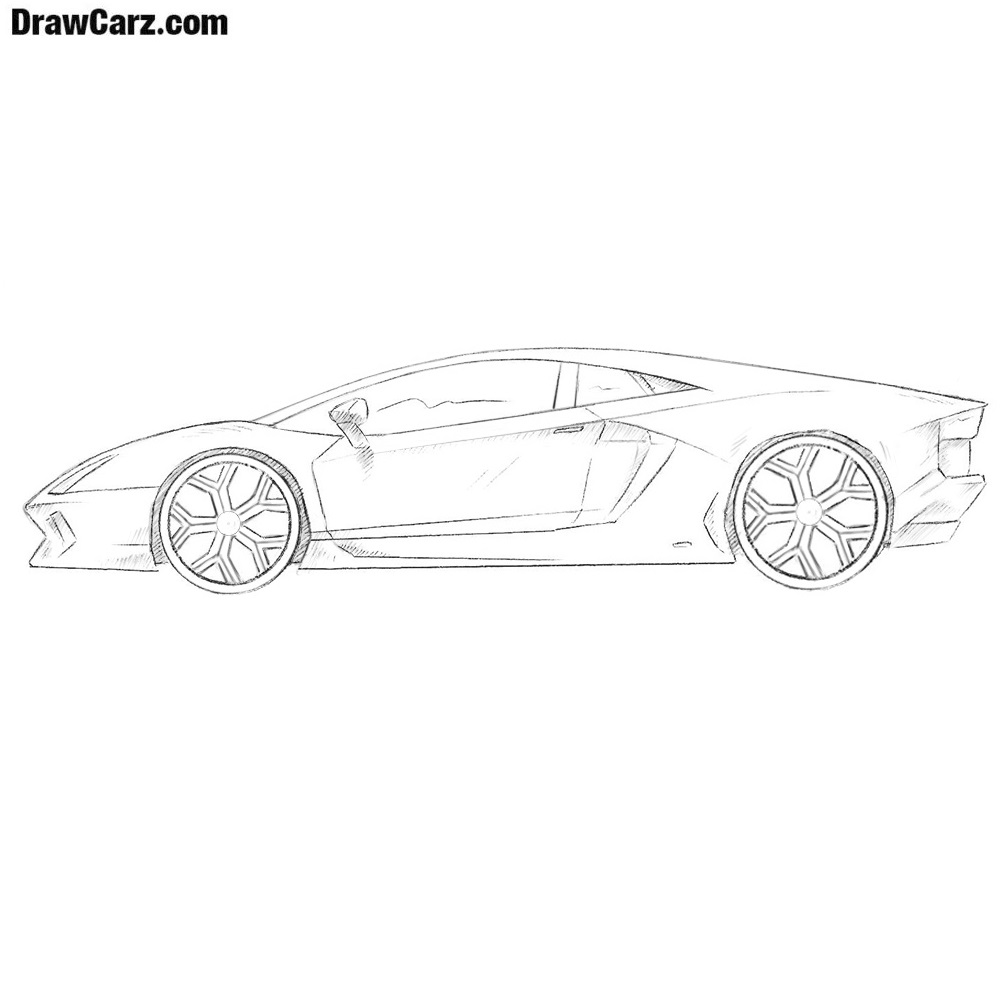 How To Draw A Lamborghini Drawcarz