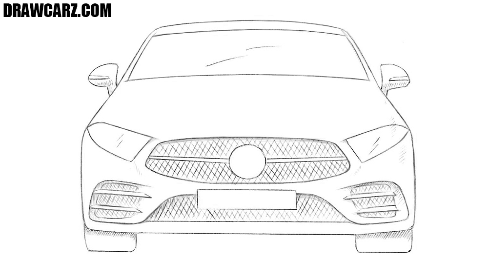 Car from the front drawing