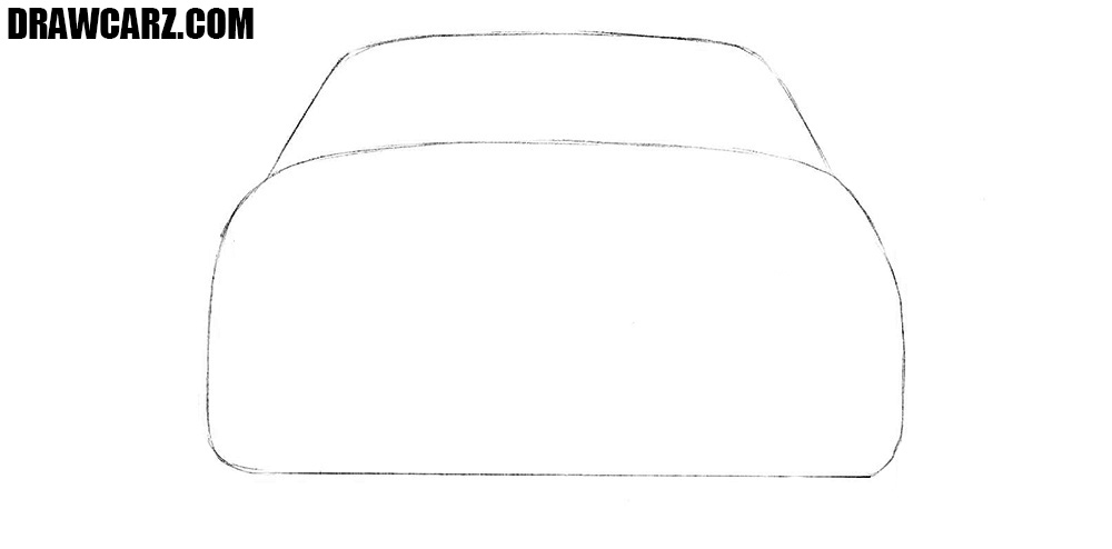 How to sketch a car from the back