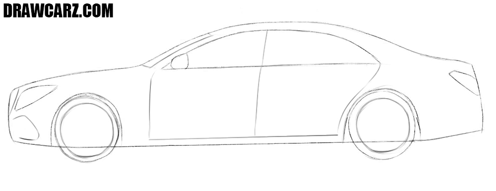 How to draw an easy car step by step