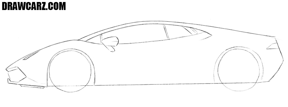 How to draw a realistic supercar