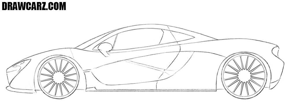 How to draw a McLaren P1 side view