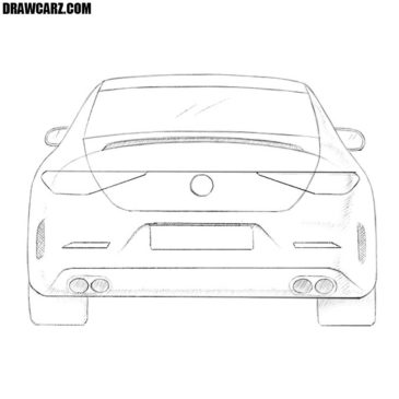 How to Draw a Car from Back