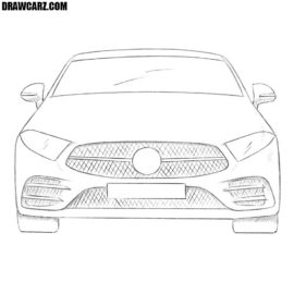 How to draw a car from the front
