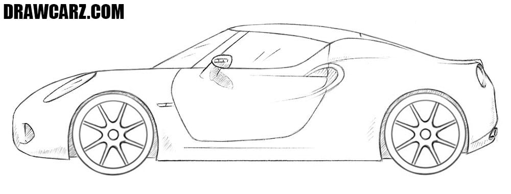 Roadster drawing