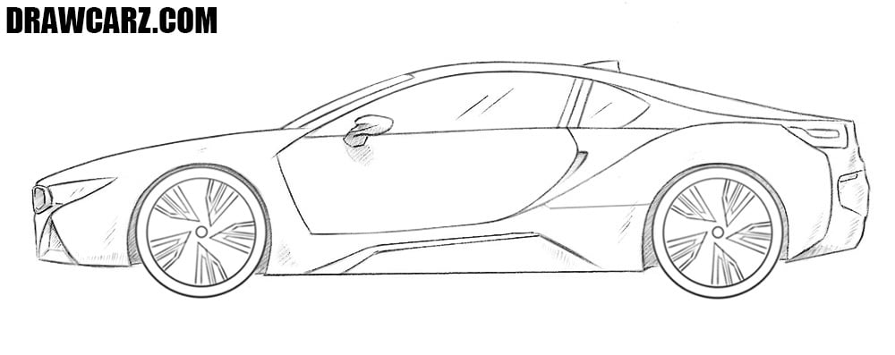 How To Draw A Bmw I8 Drawcarz
