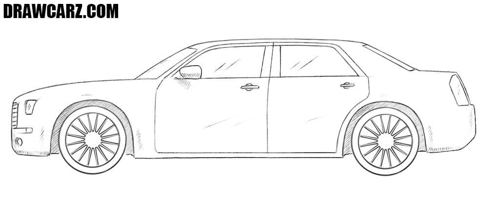Chrysler 300c drawing
