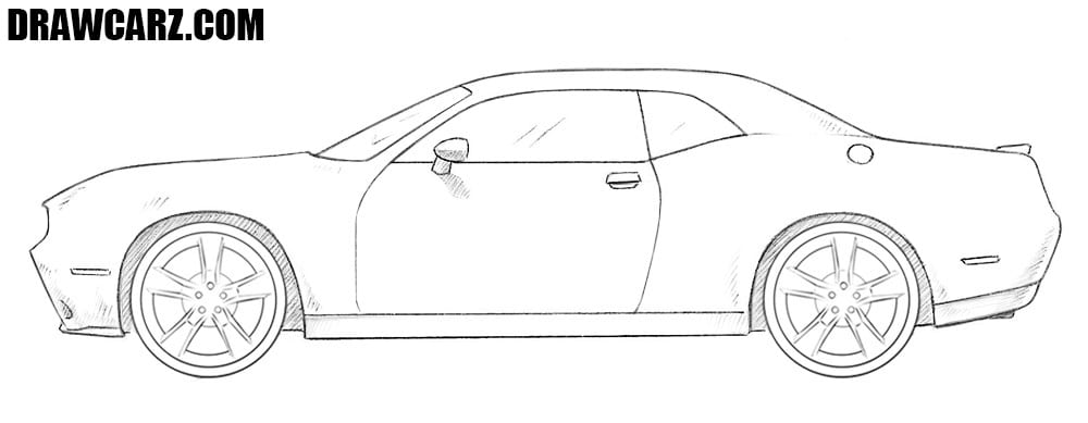 Dodge Challenger drawing