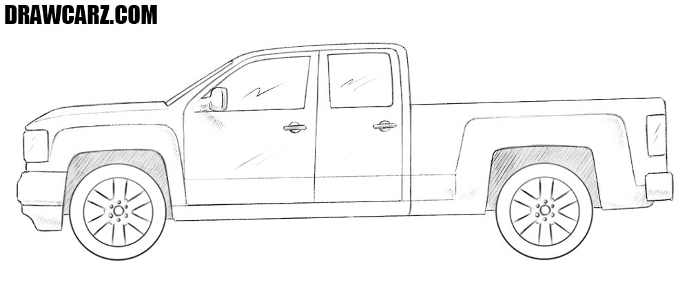 GMC truck drawing