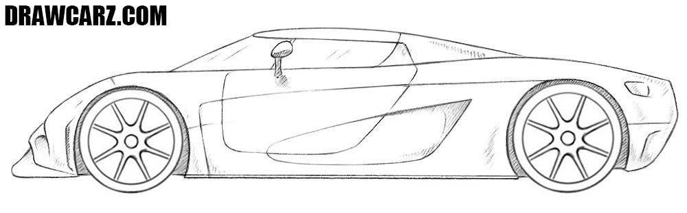 Koenigsegg Regera drawing