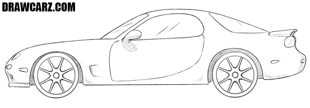 Mazda RX-7 drawing