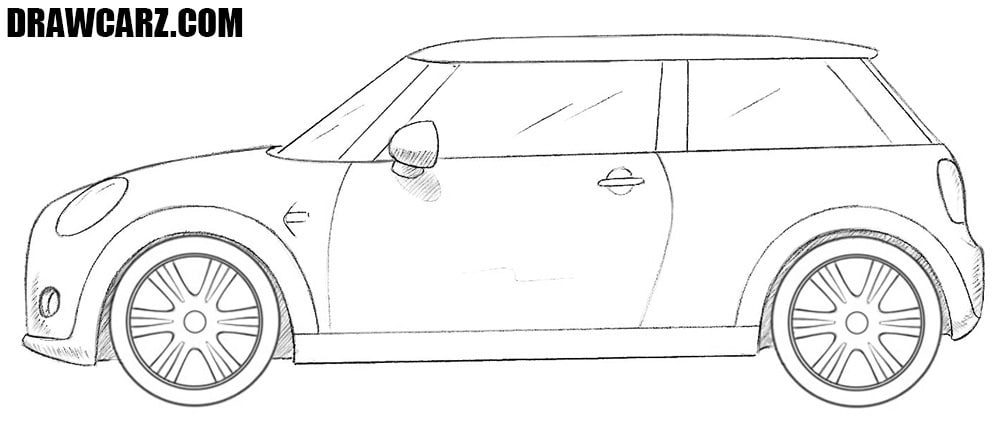 Mini Cooper drawing