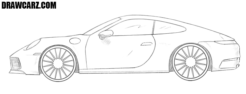 Porsche 911 drawing