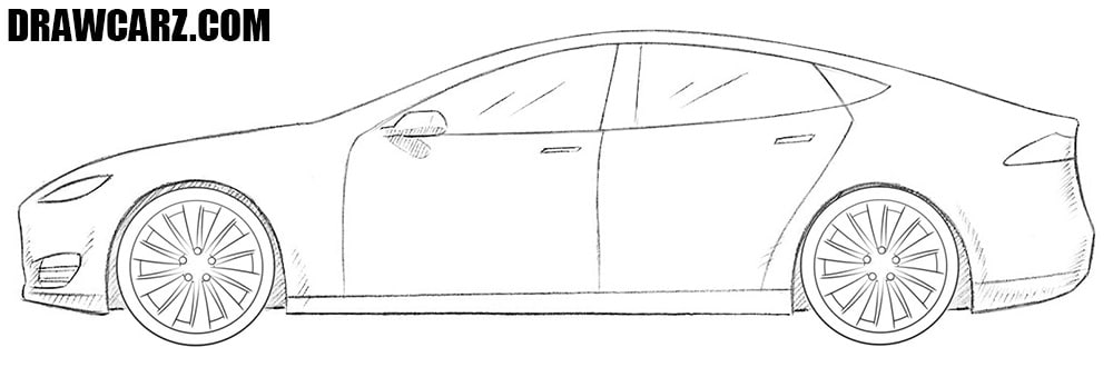 Tesla Model S drawing
