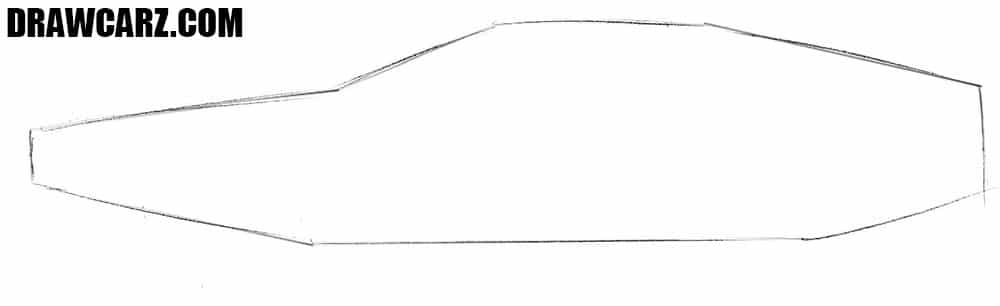 Delorean DMC drawing guide