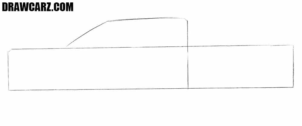 How to draw a Ford pickup Truck